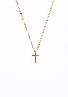 Mini Cross by Luisa Jewellery in Gold