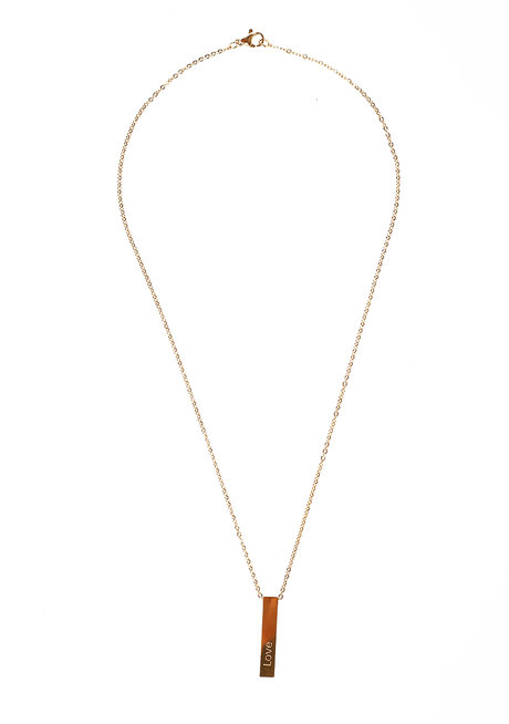 Stainless Bar Necklace by Bedazzled