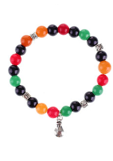 Abundance Bracelet by Bedazzled in Black, Orange, Green, Red, and Light Green
