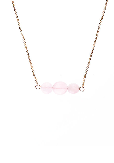 Rose Quartz Crystal Necklace by Bedazzled