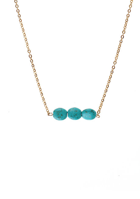 Turquoise Crystal Necklace by Bedazzled