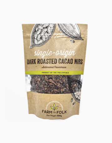Organic Dark Roasted Cacao Nibs (500g) by Farm to Folk