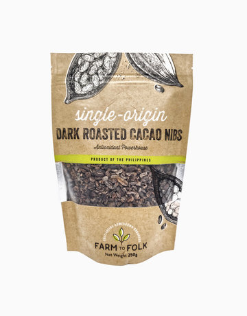 Organic Dark Roasted Cacao Nibs (250g) by Farm to Folk