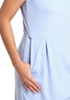 Neta Dress by Chelsea in Light Blue in XS