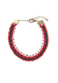 Cuadrado by Pulseras by Pam in Baby Pink, Navy Blue, Red, and Orange