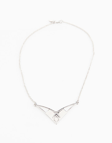 Silver Triangle Necklace by Timi