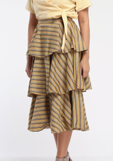 Loro Midi by ANTHILL Fabric Gallery in Light Yellow in L