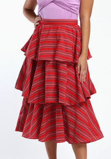 Loro Midi by ANTHILL Fabric Gallery in Red in XL