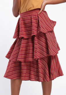 Loro Midi by ANTHILL Fabric Gallery in Maroon in XL