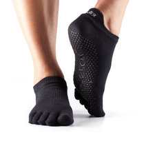 Full Toe Low Rise Grip Socks in Black by Toesox