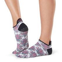 Full Toe Low Rise Grip Socks in Mantra by Toesox