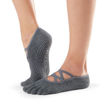 Full Toe Elle Grip Socks in Charcoal Grey by Toesox