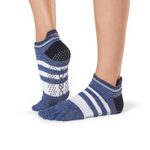 Full Toe Low Rise Grip Socks in Iconic by Toesox