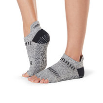 Half Toe Low Rise Grip Socks in Jet by Toesox