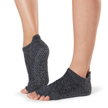 Half Toe Low Rise Grip Socks in Quartz by Toesox