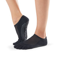 Full Toe Luna Grip Socks in Black by Toesox