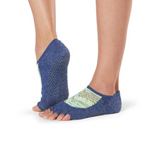 Half Toe Luna Grip Socks in Sonic by Toesox