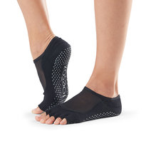 Half Toe Luna Grip Socks in Black by Toesox in S (Sold Out - Select to Waitlist)