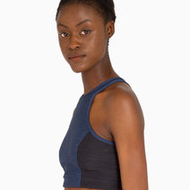 Two-Tone Athena Crop Top in Navy & Charcoal by Outdoor Voices