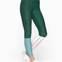 7/8 Dipped Leggings in Hunter/Slate/Ballet by Outdoor Voices