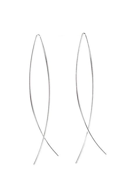 Carnelian Abstract Fish Earrings by Moxie PH