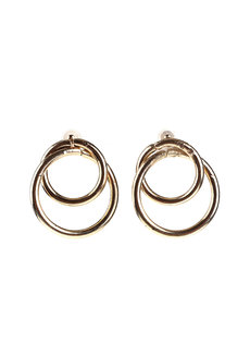 Castleton Double Circles Earrings by Moxie PH in Gold
