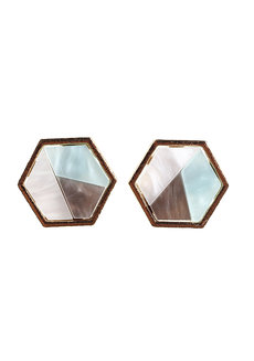 Cerulean Stud Earrings by Moxie PH in Multicolor