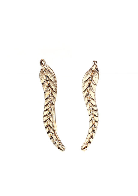 Flaxen Leaf Ear Cuffs