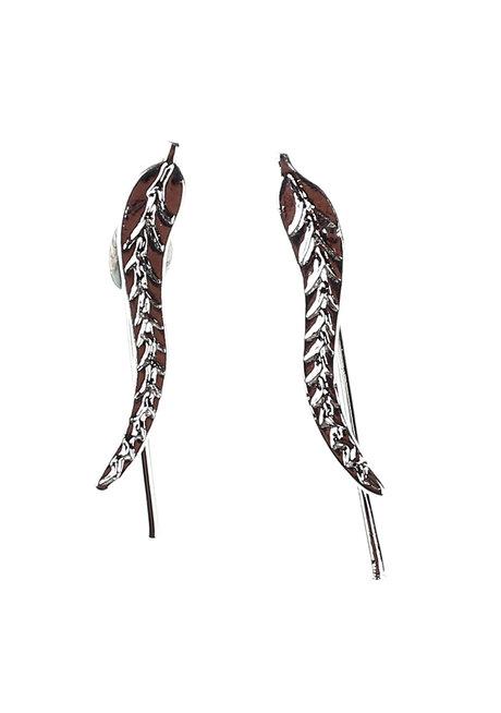Flaxen Leaf Ear Cuffs by Moxie PH