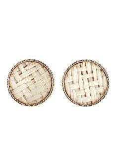 Merigold Weave Earrings Stud by Moxie PH in White