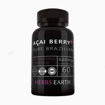 Acai Berry + Pure Brazilian Acai (60 Capsules) by Herbs of the Earth