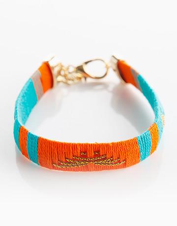 Orange/Blue Navajo Bracelet by Timi