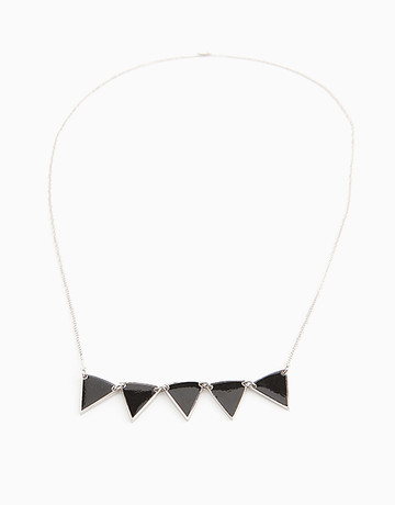 Silver/Black Pennant Necklace by Timi