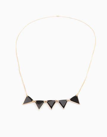 Gold/Black Pennant Necklace by Timi