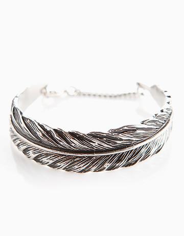 Silver Feather Cuff Bracelet by Timi