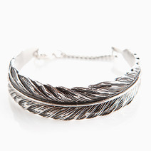 Silver Feather Cuff Bracelet by Timi