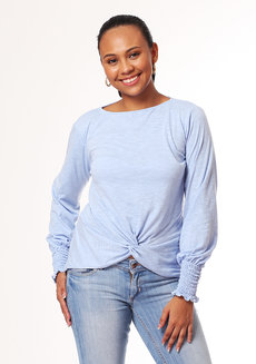 Margarita Knotted Top by Chelsea in Blue in S