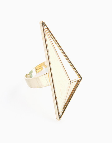 Gold Big Triangle Ring   by Timi