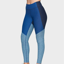 7/8 Tri-Tone Leggings in Navy/Deep Sea/Mist by Outdoor Voices in XS