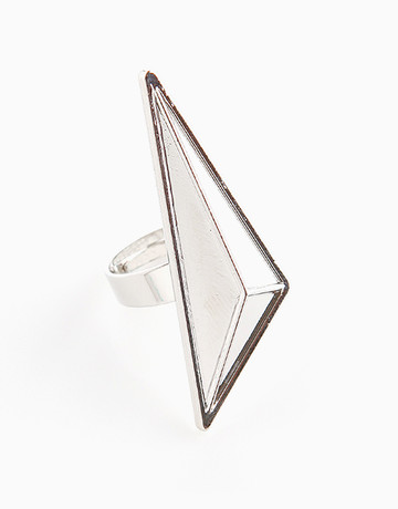 Silver Big Triangle Ring   by Timi