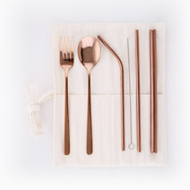 Metal Wrap with Rose Gold Straw by Kynd Studios in