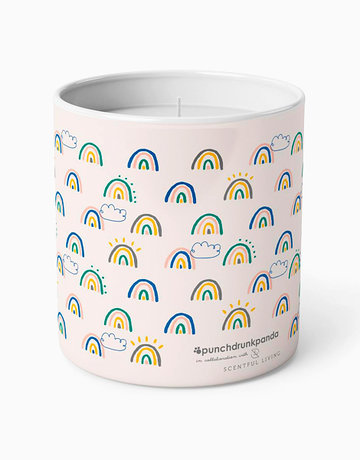 Rainbow Scented Candle by Punchdrunk Panda