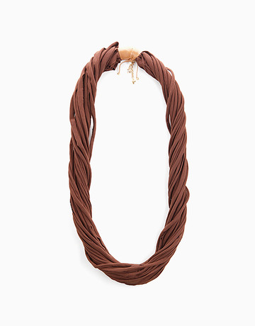 Brown Scarf Neck Piece by Timi