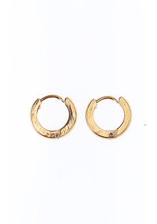 Clarke 1cm Hoop Earrings by Dusty Cloud in Gold