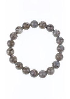 Labradorite Bracelet (10mm) by Made By KCA in Gray