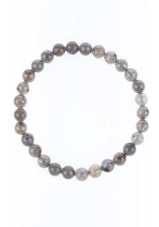 Labradorite Bracelet (6mm) by Made By KCA in Gray