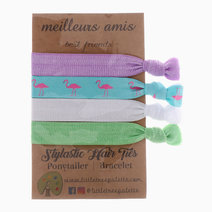 Pastel and Flamingo Hair Ties by Little Tree Palette