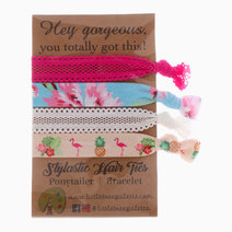 Floral and Flamingo Hair Ties by Little Tree Palette