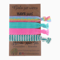 Sea Chevron Hair Ties by Little Tree Palette
