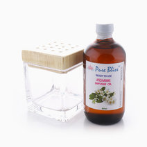 Quad Reed Diffuser Bottle with 250ml Diffuser Reed Oil Bundle by Pure Bliss